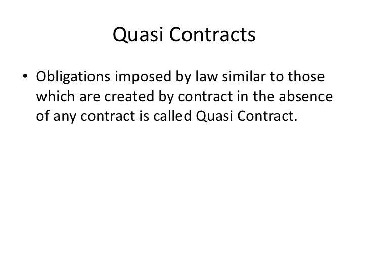 Quasi Property Law