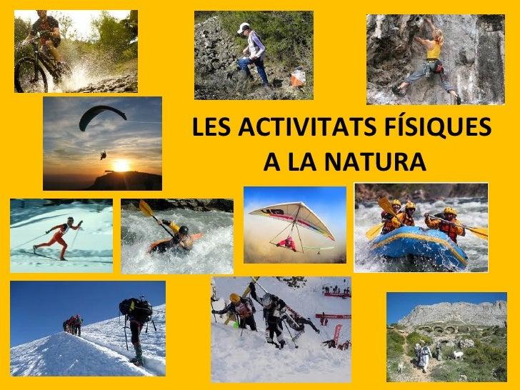 Resultado de imagen de activitats a la natura