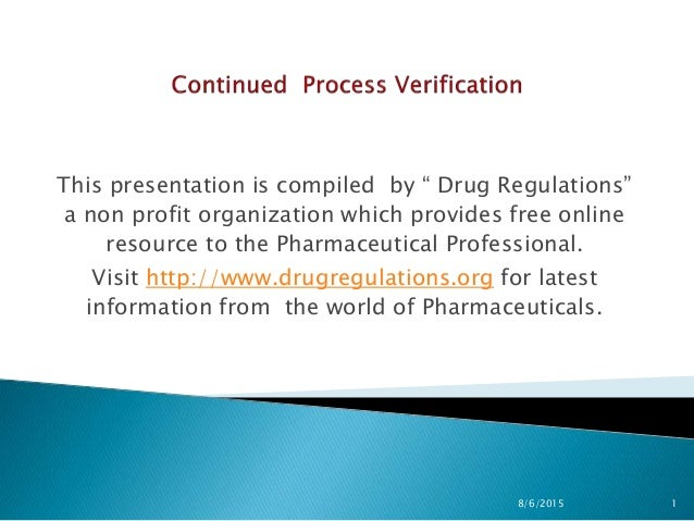 us fda process validation stage 3: continued process verification, Presentation templates