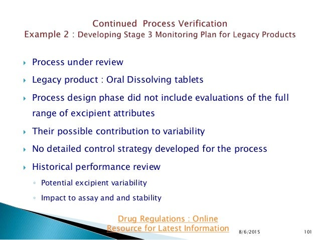  Process under review  Legacy product : Oral Dissolving tablets  Process design phase did not include evaluations of th...