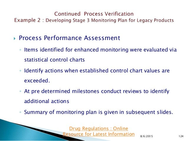  Process Performance Assessment ◦ Items identified for enhanced monitoring were evaluated via statistical control charts ...