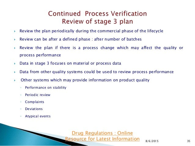  Review the plan periodically during the commercial phase of the lifecycle  Review can be after a defined phase : after ...