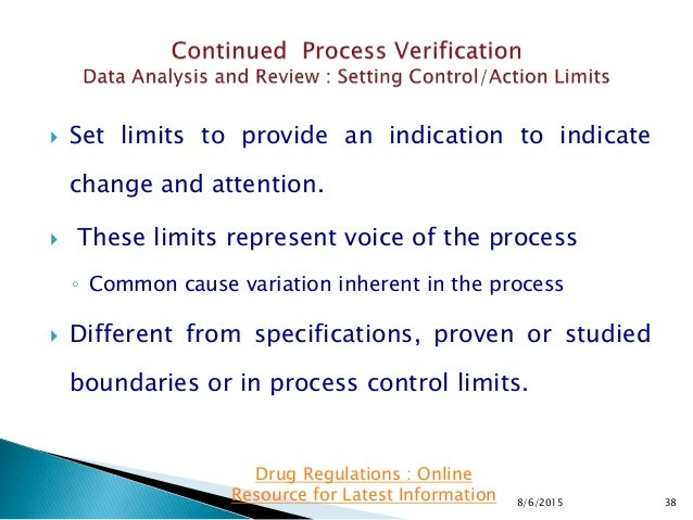  Set limits to provide an indication to indicate change and attention.  These limits represent voice of the process ◦ Co...