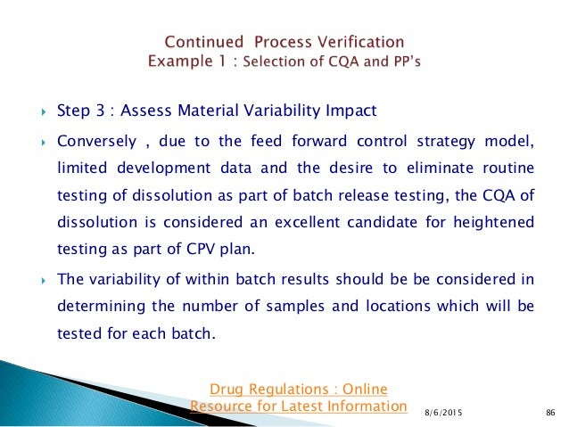  Step 3 : Assess Material Variability Impact  Conversely , due to the feed forward control strategy model, limited devel...