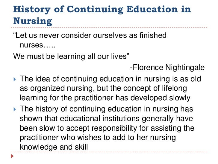 the education of nursing Nurse practitioners get advanced training in nursing so they can take their  careers a step farther by getting graduate-level education, they can operate.