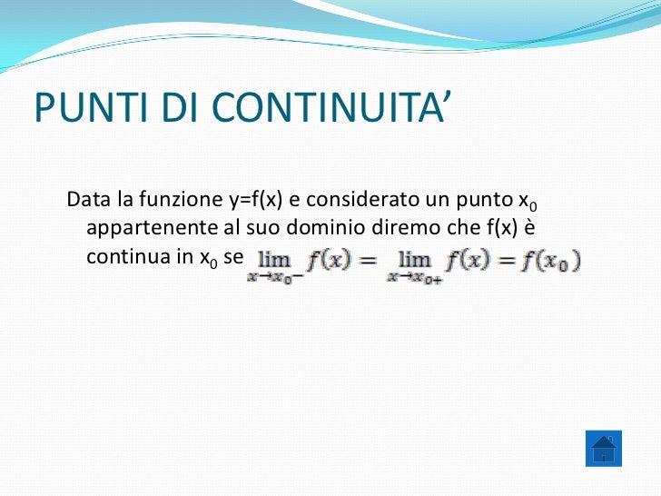 Continuità e derivabilità di una funzione. Slide 3