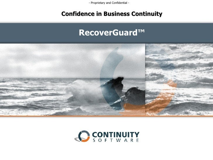 RecoverGuard™ Confidence in Business Continuity