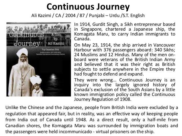 Continuous Journey            Ali Kazimi / CA / 2004 / 87 / Punjabi – Urdu /S.T. English                                 I...