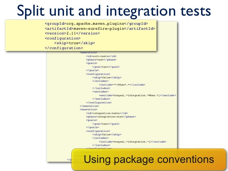 goal and true integration The plugin provides several goals to work with a spring boot artifactidspring-boot-maven-plugintrue your integration tests.