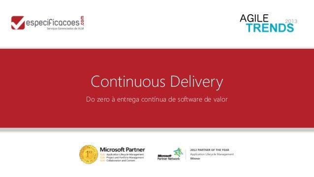 Continuous Delivery Do zero à entrega contínua de software de valor
