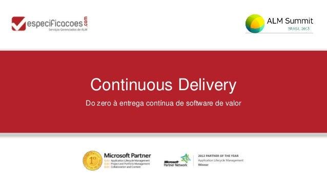 Continuous DeliveryDo zero à entrega contínua de software de valor