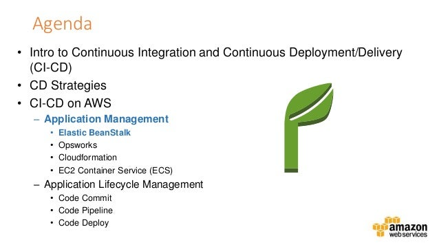 Continuous Delivery And Deployment On Aws