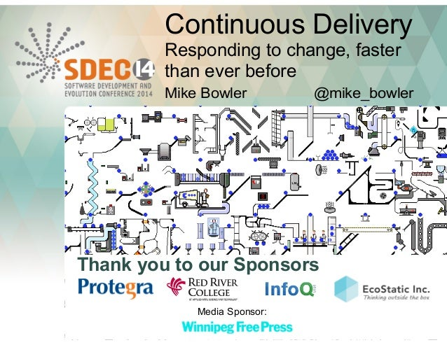 Continuous Delivery  Responding to change, faster  than ever before  Mike Bowler @mike_bowler  Thank you to our Sponsors  ...