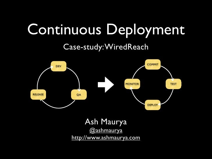 Continuous Deployment                 Case-study: WiredReach                                               COMMIT         ...
