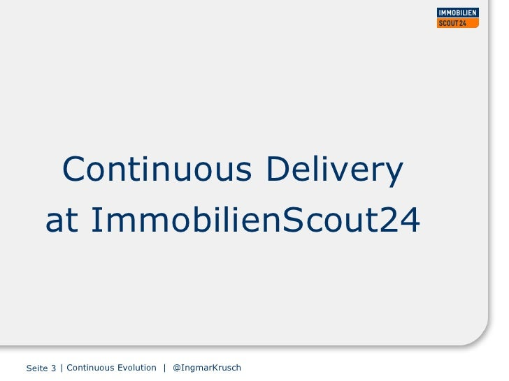 Continuous evolution - iterating to a continuous delivery platform Slide 3