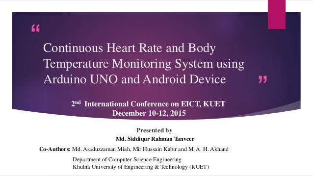Continuous Heart Rate And Body Temperature Monitoring
