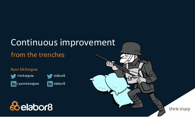 Continuous improvement from the trenches Ryan McKergow ryanmckergow rmckergow elabor8 elabor8