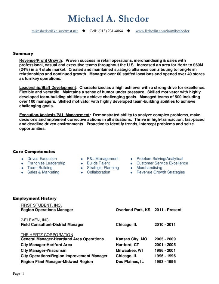 continuous improvement operations leader resume of mike