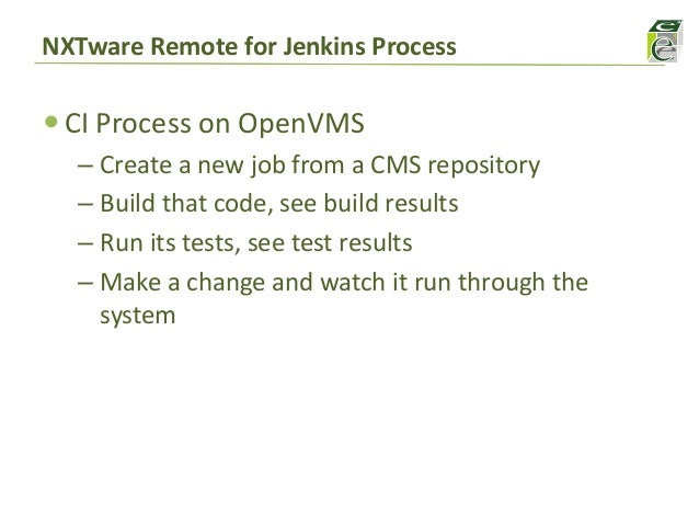 Continuous Integration for OpenVMS with Jenkins