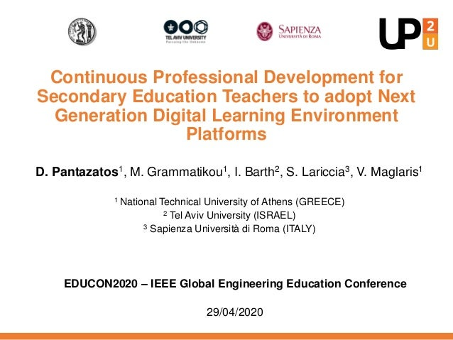 Continuous Professional Development for Secondary Education Teachers to adopt Next Generation Digital Learning Environment...