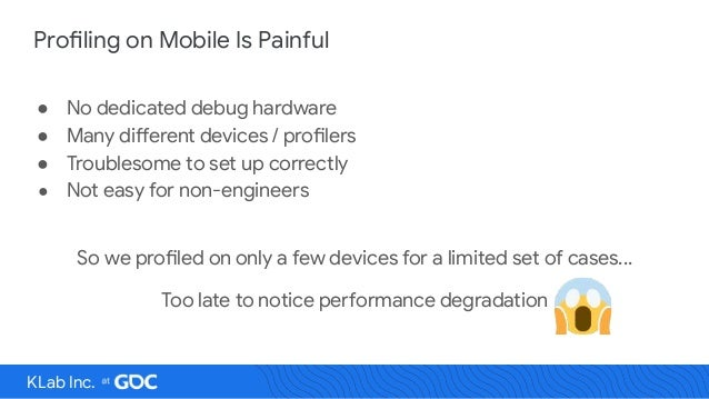 Continuous Profiling for Android Game Performance Optimization Slide 3