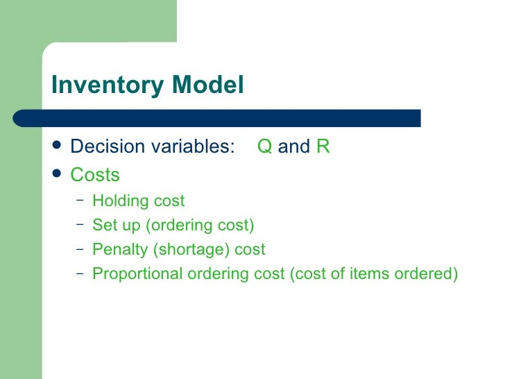 mcdonalds inventory system summary Inventory management and tracking instructor's guide 1 workshop summary and wrap-up present inventory system) in the invitation.