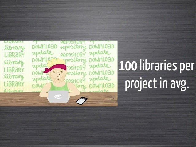 100 libraries per  project in avg.