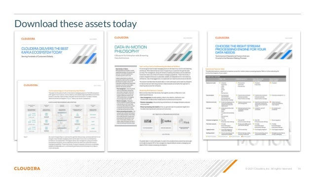 © 2021 Cloudera, Inc. All rights reserved. 14 Download these assets today