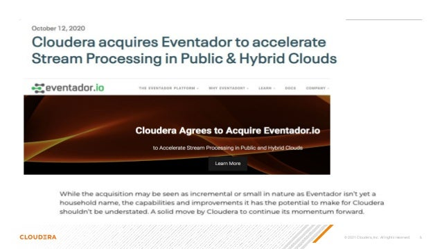 © 2021 Cloudera, Inc. All rights reserved. 6