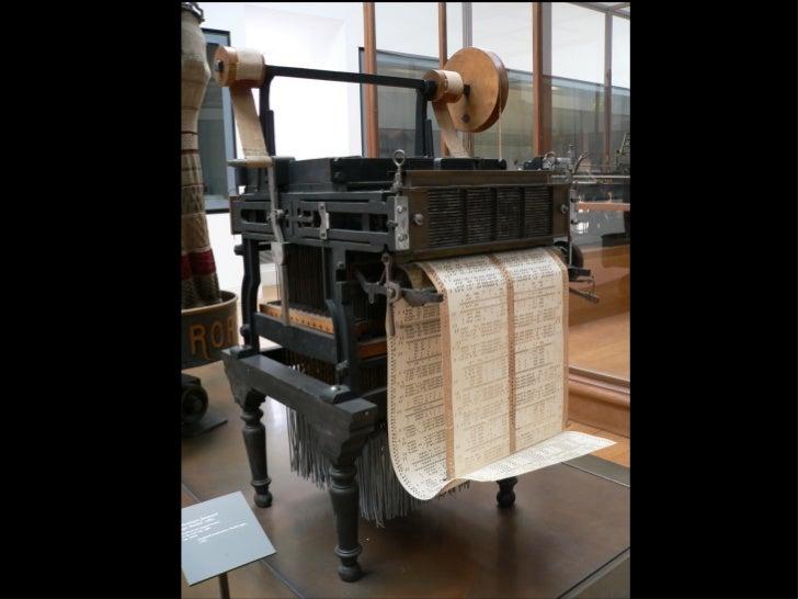 """""""A máquina de Babbage tece cálculos como o tear de Jacquard tece flores"""""""