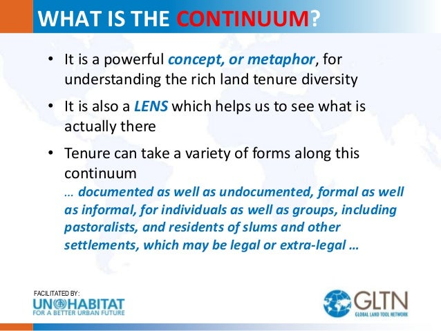 Perception of Tenure Security: The Continuum of Land Rights Perspective Slide 2