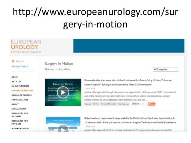 Continuum urological education - 웹