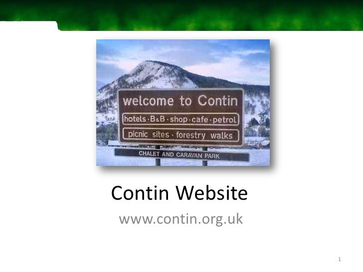 Contin Website<br />www.contin.org.uk<br />1<br />