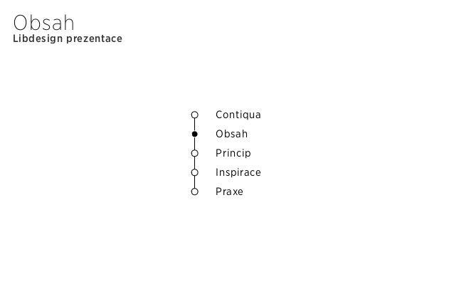 Libdesign prezentace Obsah Contiqua Obsah Princip Inspirace Praxe