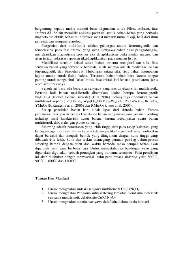 Contoh Proposal Pkm Gagasan Tertulis