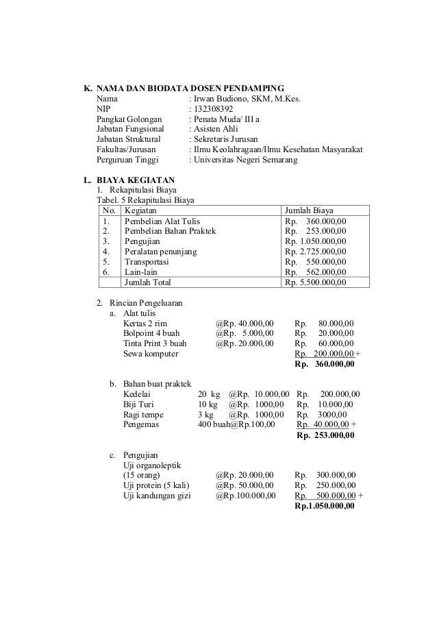 Contoh Proposal Pkm Penelitian