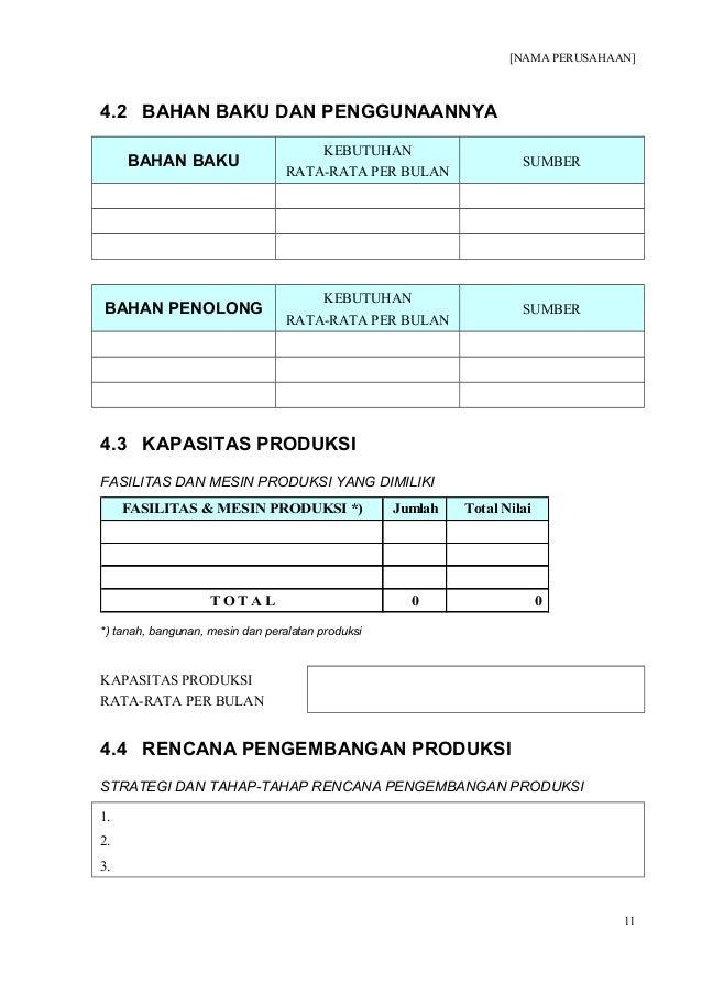 Contoh Business Plan Brownies / Contoh form-proposal ...