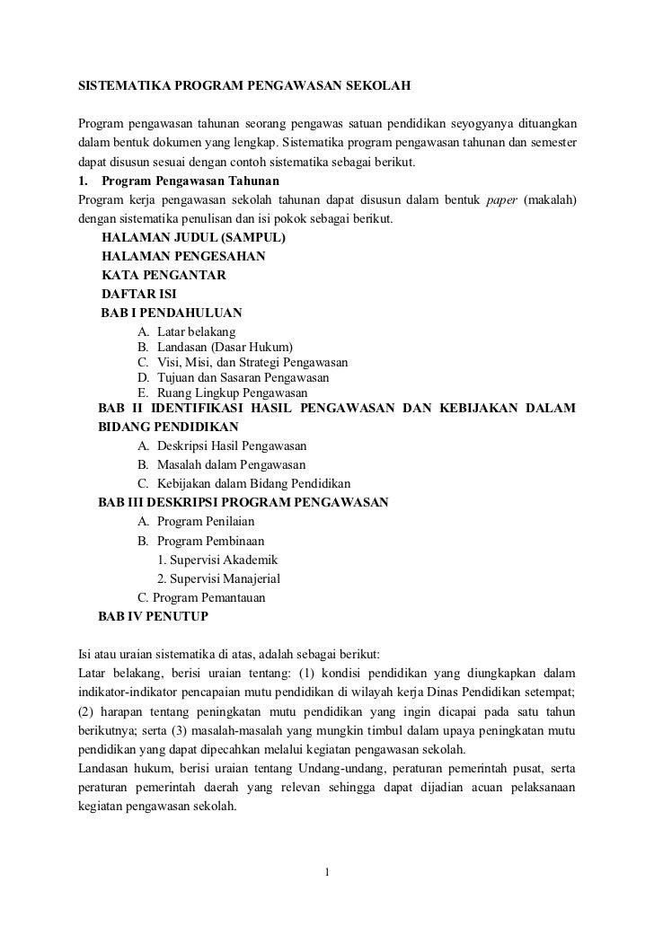 Contoh Format Program Pengawas Sekolah Akhmadsudrajat Co Cc