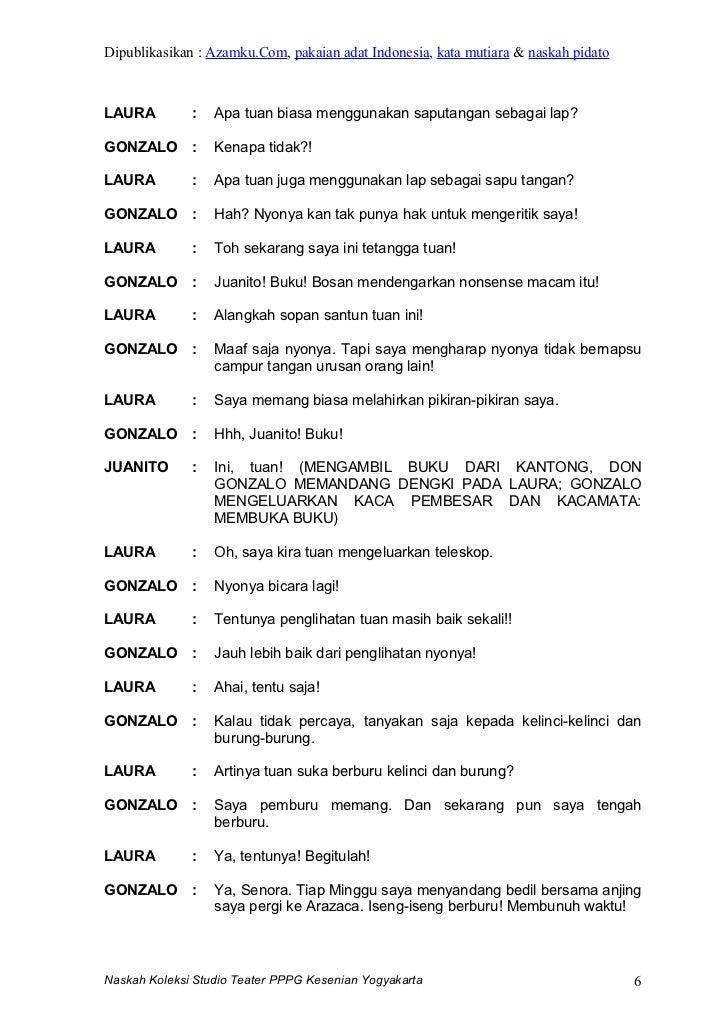 Contoh Dialog Drama 6 Orang Percakapan Dalam Bahasa Sunda Cantik