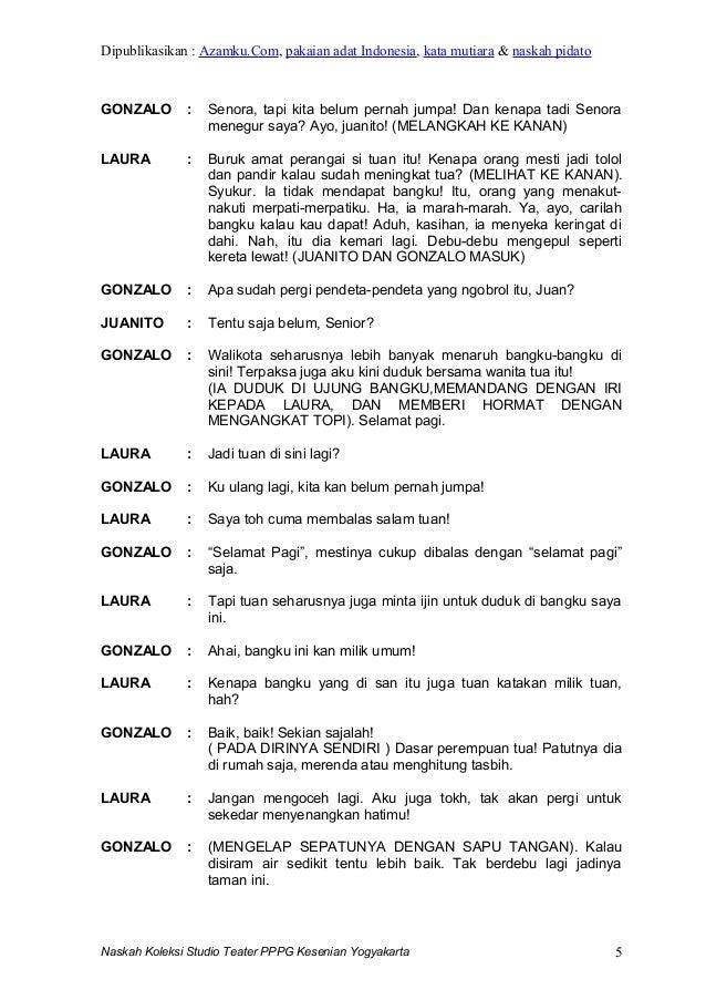 contoh naskah drama contoh skrip drama teks drama singkat ...
