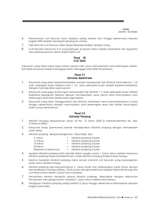 Contoh Peraturan Perusahaan Syafriyadi Mml3