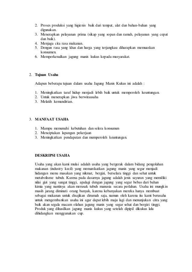 Proposal Business Plan Business