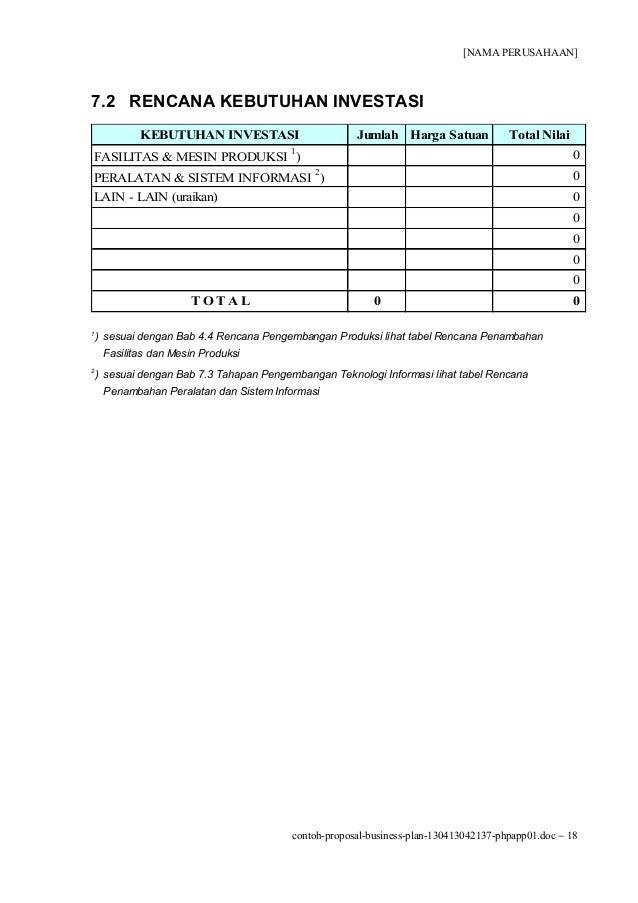 Contoh Proposal Business Plan Event Organizer - Kimcil I