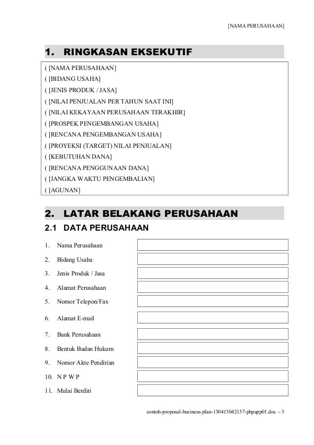 Contoh proposal-business-plan