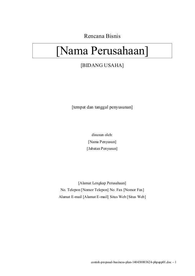 Proposal Kewirausahaan Pdf