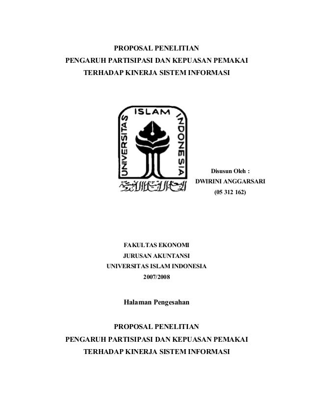 Contoh Proposal Peneltian 2009