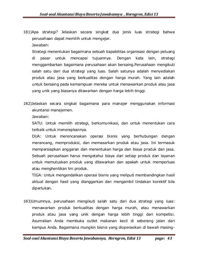 Soal Akuntansi Perusahaan Jasa Beserta Jawabannya Soal Essay Akuntansi Perbankan Arthur