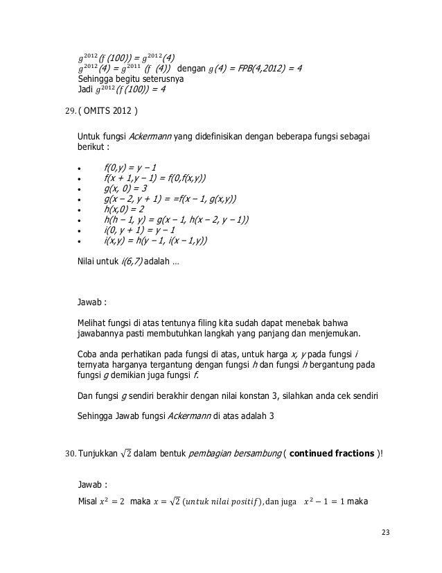 Contoh Soal Dan Jawaban Fractional Fraction