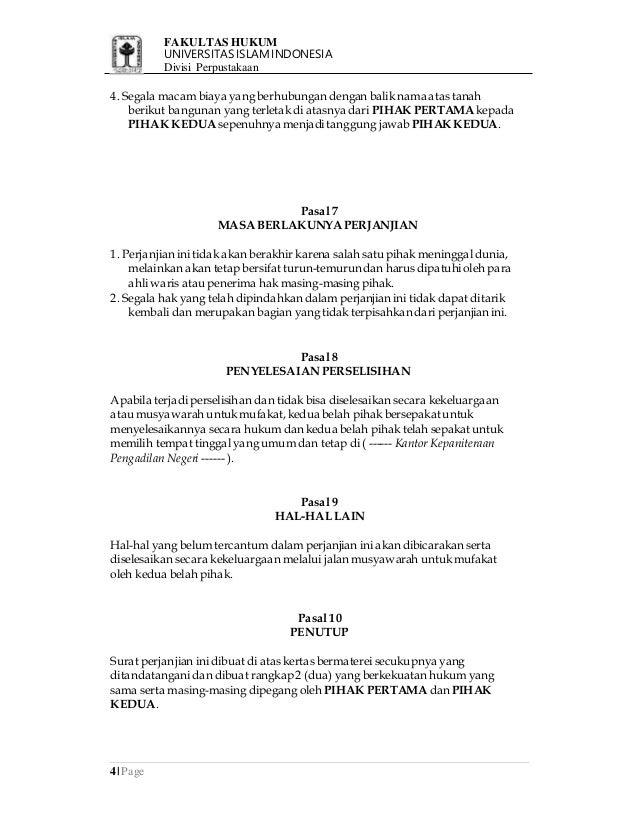 Contoh Surat Kuasa Wakil Jual Tanah - Shoe Susu