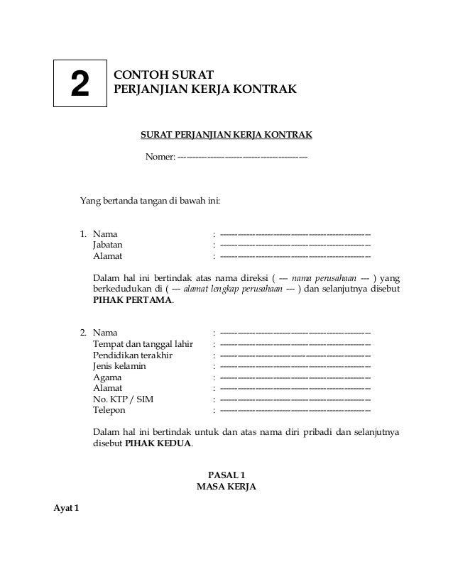 Contoh Surat Perjanjian Kontrak Kerja 130620223414 Phpapp01